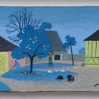 Farmyard  by  Jean Hugo (1894 – 1984)