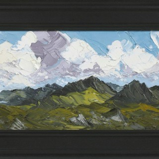 'Snowdon Mountain Range' Original Oil Painting by Welsh artist Martin Llewellyn, Palette Knife Technique