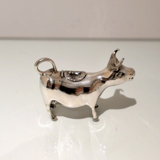 Early 20th Century Modern Silver Cow Cream Jug Germany Circa 1930