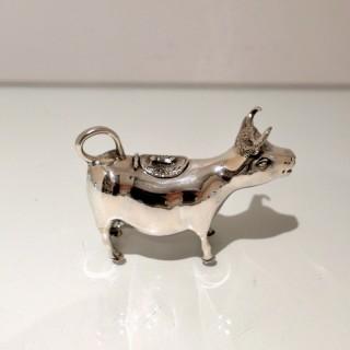 Early 20th Century Modern Silver Cow Cream Jug Germany Circa 1930
