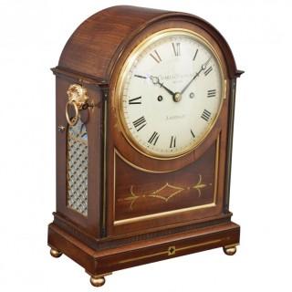 George IV Mantel Clock by Charles Valogne, London