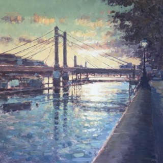 Albert Bridge at Sunset