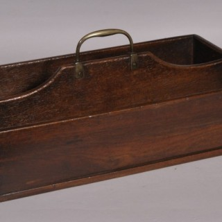 Antique Treen Georgian Mahogany Cutlery Tray