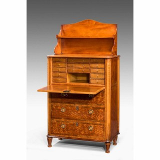 18th Century Satinwood Secretaire Abattant