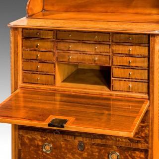 18th Century Satinwood Secretaire Abattant