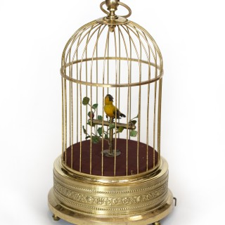 Automaton Mechanical Bird in a Cage