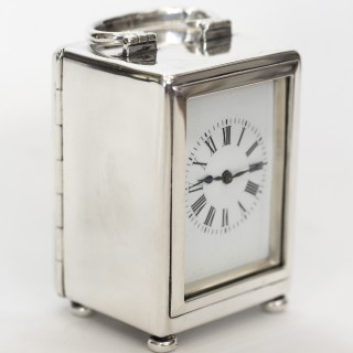 William Comyns sterling silver carriage clock