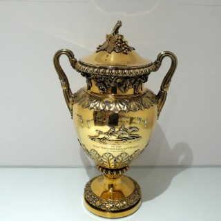 George IV Sterling Silver Gilt Large Cup & Cover London 1828 Benjamin Smith III