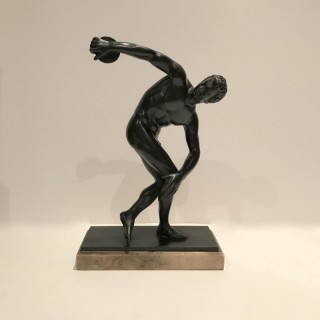 Antique Bronze of a Greek Discus Thrower