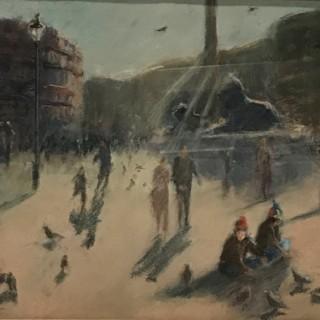 Pastel of Trafalgar Square