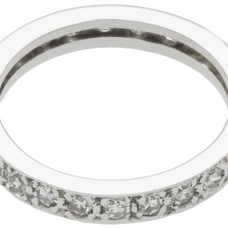 0.78ct Diamond and 18ct White Gold Full Eternity Ring - Antique Circa 1930