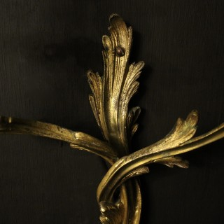 French Pair Of Bronze Antique Wall Gasoliers
