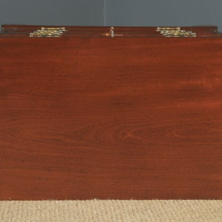 Small Antique English Georgian Mahogany Chest of Drawers with Brushing Slide (Circa 1790)