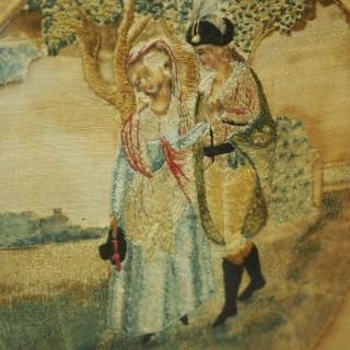 Pair of Late George III Mahogany Pole Screens