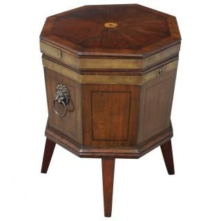 George III Inlaid Mahogany Octagonal Wine Cooler