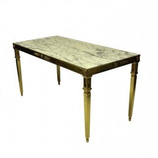 A FINE ITALIAN GILT BRONZE NEO-CLASSICAL CENTRE TABLE