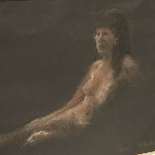 Pastel Nude of a Woman