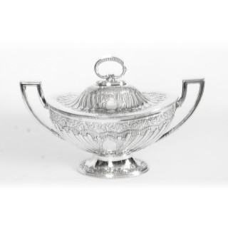 Antique Victorian Silver Plated Tureen Mappin Bros c 1860 19th Century