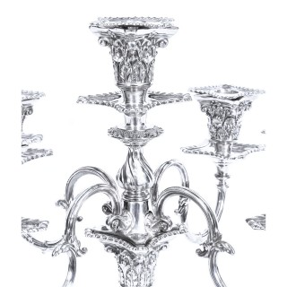 Antique Pair Five Light Candelabra by Mappin & Webb 19th C