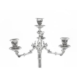 Antique Pair Neo Classcal Silver Plated 4 Light Candelabra Hodd & Linley 19thC