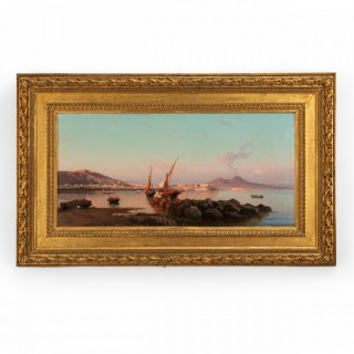 View of the Bay of Naples by Alessandro La Volpe Italian, 1877