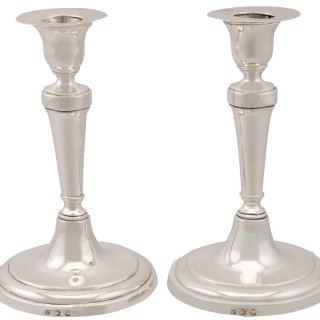 Italian Silver Candlesticks - Antique Circa 1800