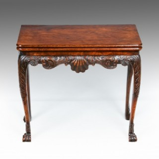 A Fine Irish  18th Century Walnut Card Table