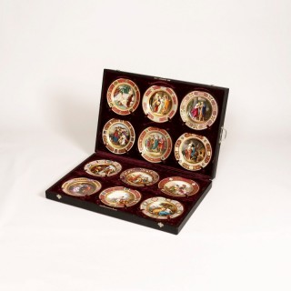 A Suite of 12 Plates in Vienna Porcelain