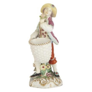 Parcel gilt 18th Century Chelsea porcelain figure
