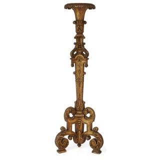 Large Neoclassical style giltwood torchère