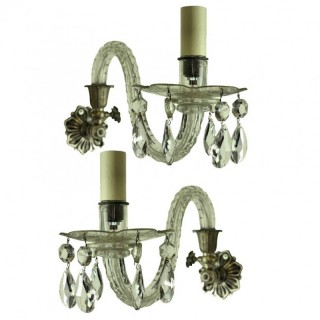 A PAIR OF SINGLE ARM SCONCES