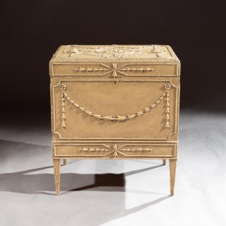 19th Century Painted Carton Pierre Chest / Cellaret In The Adam Neoclassical Style