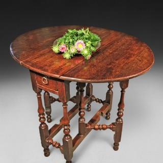 Queen Anne Oak Gate Leg Table