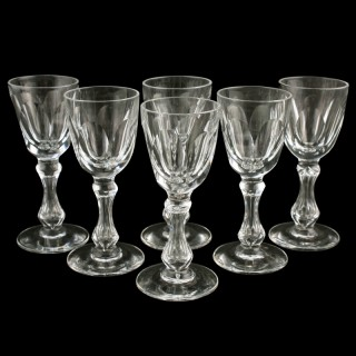 Six Victorian Liqueur Glasses