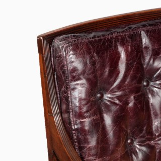A Regency mahogany Bergère chair