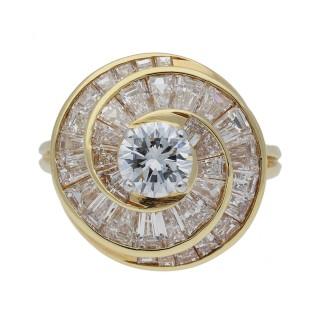 Oscar Heyman Brothers diamond screw ring, American, circa 1960.
