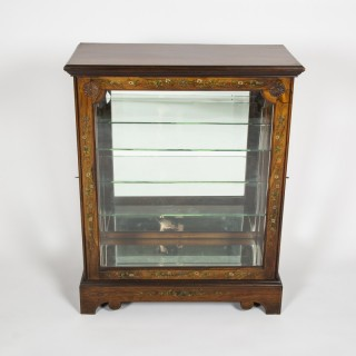 Rosewood display cabinet, circa 1900