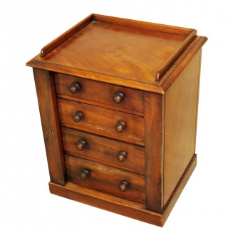 19th Century Mahogany Miniature Wellington Chest