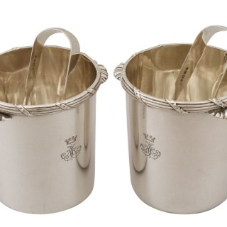 Sterling Silver Ice Buckets / Pails- Antique Victorian