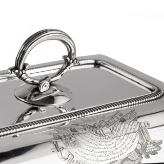 Captain Sir George Collier's presentation silver entree dishes by Richard Cooke, London 1803