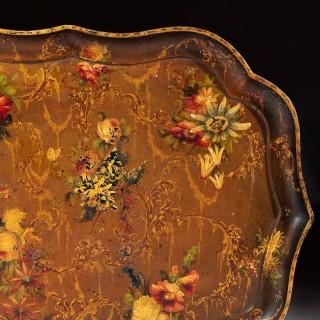 Fine 19th Century Papier Mache Tray By Jennings & Bettridge, London (Royal Makers)