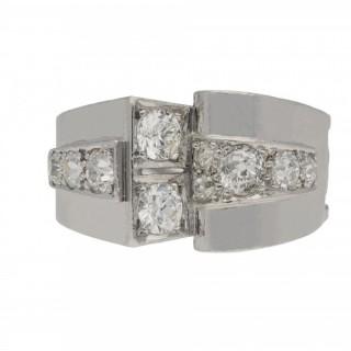 Art Deco diamond cocktail ring, circa 1935.