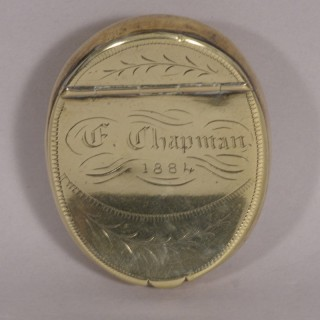 Antique 19th Century Brass Pocket Snuff Box
