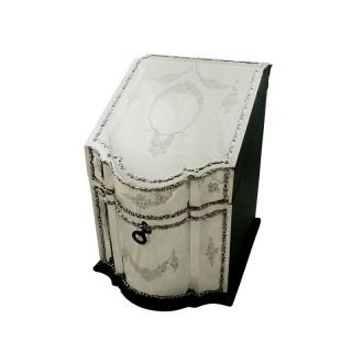 Antique Edwardian Sterling Silver Desk Top Stationary Box 1904