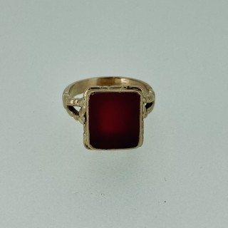 Victorian Gold Carnelian Ring