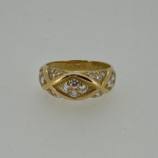 18ct Gold vintage Van Cleef & Arpels Diamond Set Ring