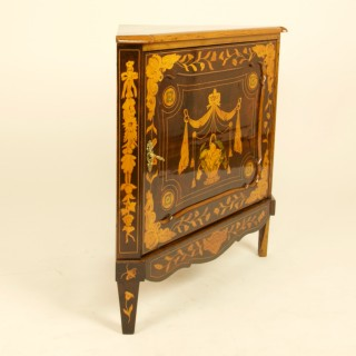 Dutch Louis XVI Marquetry Corner Cabinet or Encoignure