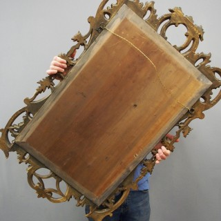George III Style Carved Giltwood Mirror