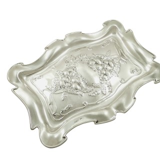 Antique Edwardian Sterling Silver Dressing Tray 1907