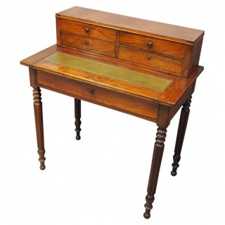 French Rosewood Writing Table / Desk